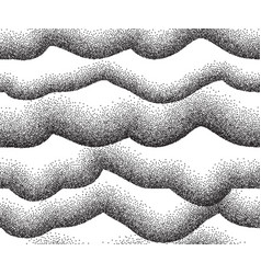 monochrome waves background vector image