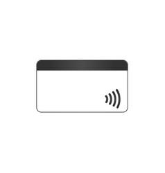 Nfc payment pos terminal confirms contactless vector
