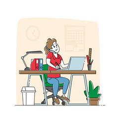 Office worker busy business woman or freelancer vector