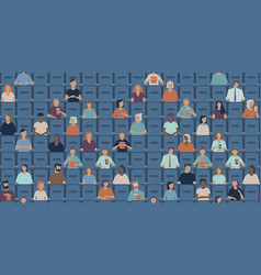 people watching movie in a cinema hall vector image