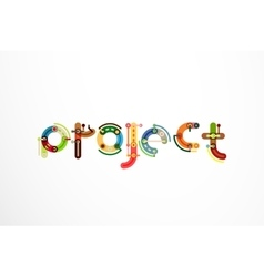 Project word letter banner vector image