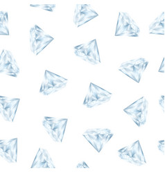 realistic detailed 3d shiny bright diamond vector image