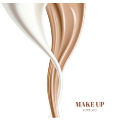 Realistic foundation creamy texture for beauty vector