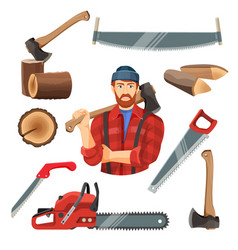 Realistic of carpentry items vector