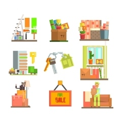 Repair and Moving Web Icon Set vector image