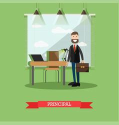 School principal concept in vector