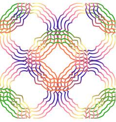 Seamless multicolor pattern with oriental mandalas vector