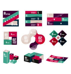 set of trendy geometrical shaped infographic vector image