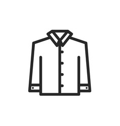 shirt with long sleeves icon vector image