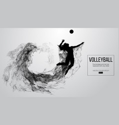 Silhouette a volleyball player girl woman female vector