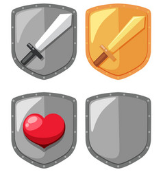 sword shield game element vector image