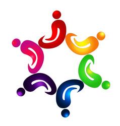 Teamwork spiritful people icon vector