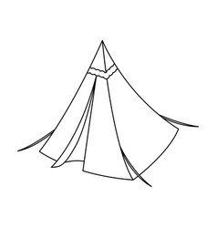 Tent conetent single icon in outline style vector