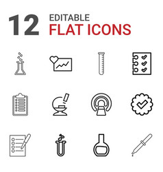 test icons vector image