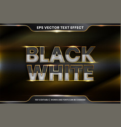 Text effect in 3d black white words effect vector