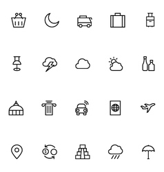 Tourism Line Icons 4 vector image