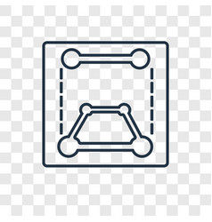 Transform concept linear icon isolated on vector
