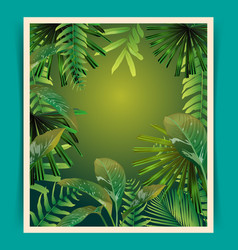 Tropical leaf pattern poster vector