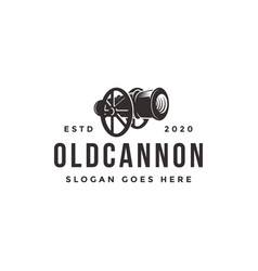 vintage classic old cannon logo icon template vector image
