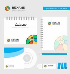 volley ball logo calendar template cd cover diary vector image