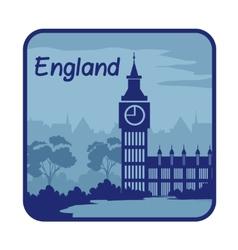 With Big Ben in London vector
