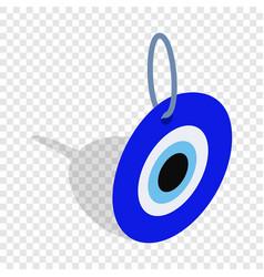 Evil eye turkish amulet isometric icon vector