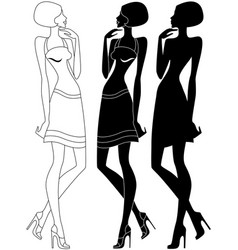 model in shoes with high heels vector image