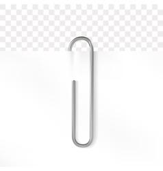 Realistic paper clip Metallic fastener on vector image vector image