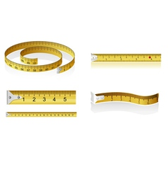 set of measuring tapes vector image