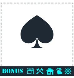 Spade icon flat vector image vector image