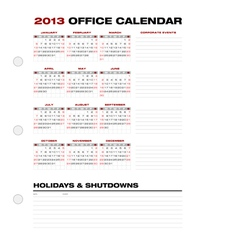 2013 Clean Office Calendar vector image vector image