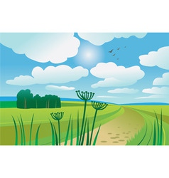 beautiful summer day vector image