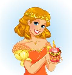 birthday princess vector image vector image