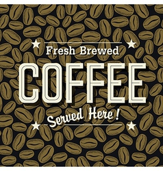 coffee poster vector image vector image