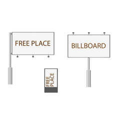 flat style billboard template mockup collection vector image