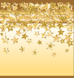 Gold star christmas pattern vector