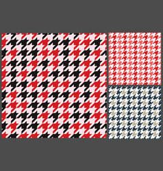 houndstooth patterns set for clothes vector image vector image
