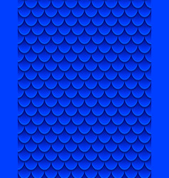 seamless pattern of colorful blue fish scales vector image
