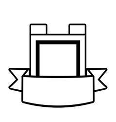 shield guarantee premium label outline empty vector image