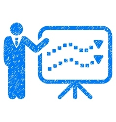 Trends lecture grainy texture icon vector