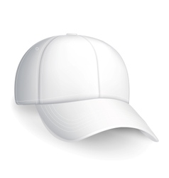 White baseball cap vector image vector image