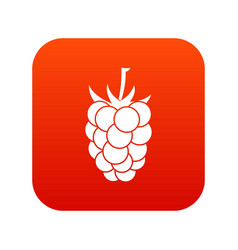 blackberry fruit icon digital red vector image vector image