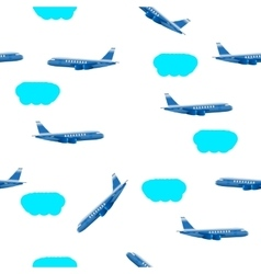 clouds airplane vector image