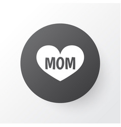 Mom icon symbol premium quality isolated text vector
