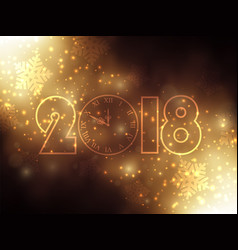 new year background with gold clock vector image