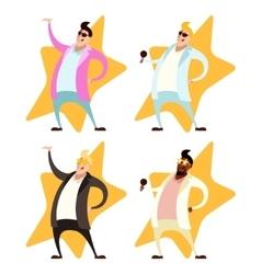 Set of Pop singers vector image