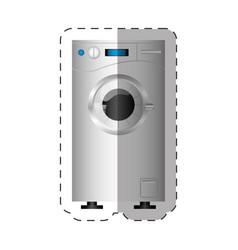 Washing machine appliance home cut line vector