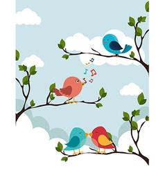 Bird design vector image