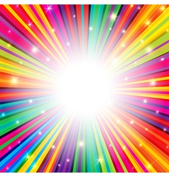 colorful background rays empty vector image vector image