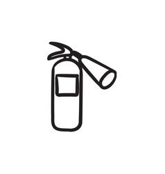 fire extinguisher sketch icon vector image vector image